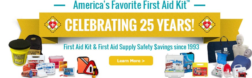 First aid product first aid kits americas favorite first aid celebrating 25 years as americas favorite first aid kit fandeluxe Image collections