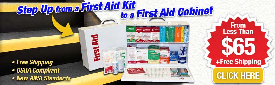 Step Up from a First Aid Kit to a First Aid Cabinet