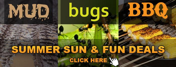 Mud, Bugs, and BBQ Sale