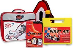 Auto First Aid Kits designed specifically for use in and around your car. These Car & Vehicle emergency kits contain a variety of first aid supplies to treat minor injuries as well as supplies for responding to major emergencies. AAA First Aid Kits and AAA emergency Road Kits here. Many of our Auto First Aid Kits kits include motion sickness tablets. We have soft sided, and hard case automobile/vehicle first aid kits designed to fit in spaces in any car, truck, sport utility vehicle, mini-van, etc...Discount and Wholesale