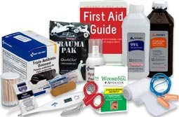 First Aid Items of every type. Refill your first aid kits, stock your emergency supply, if it is a first aid supply, cpr supply, or safety supply, We Have It! This is the wholesale and discount source for every type of first aid item, including: Bandages, first aid kits for business, first aid stations, first aid cabinets, bloodborne pathogens and personal protective equipment, cold packs, first aid instruments and guides, outdoor preparedness, burn care, medications and tablets, cpr products, Automated external defibrillators, aeds batteries & accessories, bandage wrap and tapes and much more! all easy, inexpensive, and online!