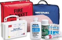 First Aid for Burns: Burn First Aid Refills & Burn First Aid Kits. Burn Aid, Water Jel, Burn jel, Cool Jel, Fire Blanket, Burn Kits, Burn Blankets & Every other burn first aid supply you can imagine! Burn Care First Aid Kits, Burn Care Products, Burn Relief Gels and Creams, Burn Dressings, Burn Blankets, Burn Spray, Fire Blankets ,Mounting Brackets for Fire Blankets, Unitized Burn Care