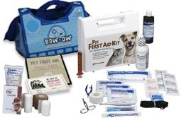 Emergency Kits made especially for your pets. You'll find unique items such as leashes, syringes, and eyewash in these Pet First Aid kits that have been developed in collaboration with leading veterinarians. These kits serve as a dog first aid kit, cat first aid kit, or may help with many other mammalian pets! We now have Pet Survival Kits and Horse Emergency First Aid Kits, too. Pet first aid kit with all the items you need for your pet's common injuries.