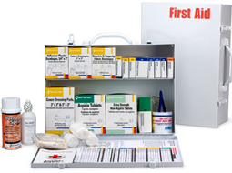 Many OSHA & ANSI Compliant First Aid Cabinets and accessories for Cabinets including Pocket Liners for Cabinets in 2 Shelf sizes. These Industrial First Aid Stations with or without the Pocket Liners are designed to serve 50-75 employees.