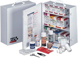 OSHA & ANSI Compliant First Aid Cabinets for your workplace compliance - serves up to 100 people.