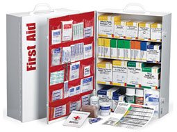 4 Shelf Industrial First Aid Station with Pocketliner.