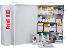 1060-piece industrial first aid station meets and exceeds OSHA recommendations for businesses, offices and work sites.