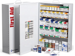 Meets ANSI / ISEA First Aid requirements and exceeds OSHA recommendations. Refilling is easy with the full-color reordering schematic for this extra large first aid station.