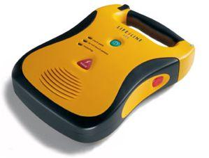 Image of Defibtech Lifeline with a five year battery and five year warranty.