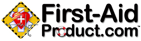 First aid product logo with first-aid-product.com