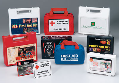Image displaying a compilation of Ready Label Kits by First Aid Product