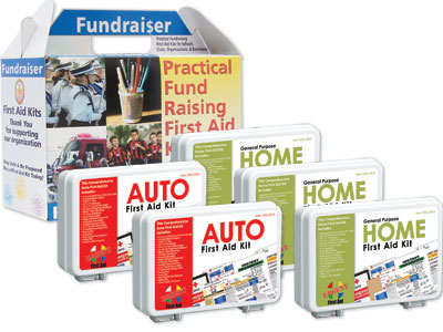 Image of Auto and Home Fundraiser Kits which have received a suggested retail of three thousand dollars for three hundred kits.