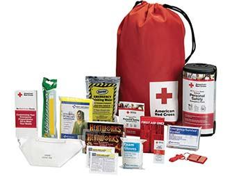 Image of American Red Cross Personal Emergency Preparedness Kit with Backpack