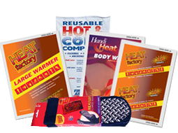 Heatworks Hand, Pocket & Glove Warmers, SmartTab EzRefill Hot / Cold Packs and Body Warmer.