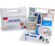 Image of 10 Person, 63 piece Bulk First Aid Kit, Plastic Case with Dividers