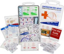 Image of Plastic Bilingual Contractor's First Aid Kit - 10 person - 91 Pieces