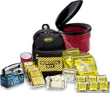 Image of Guardian Bucket and Two Person Economy Emergency Kit Backpack