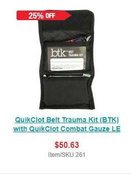 QuikClot Belt Trauma Kit (BTK) with QuikClot Combat Gauze LE