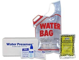 Image of 2 Gallon Emergency Water Bag and 55 Gallon Water Preserver 5 Year