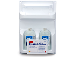 Double Eye Wash Station for Screw Bottles and Eyes Wash Bottles for replacement.