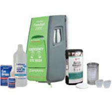 Image of Fendall 2000 Eyewash Station and Eyesaline Concentrate.