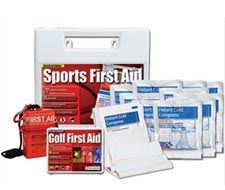 Image of sports first aid kit, golf first aid kit, and mini first aid kit.