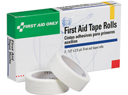 Image of two rolls of First Aid Tape with a unitized first aid refill box