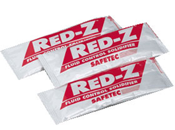 Red-Z Fluid Control Solidifiers available in individual packs & Fluid Control Solidifier Shakers.