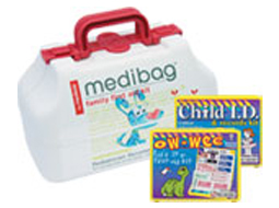 Image of 3 different kids first aid kits