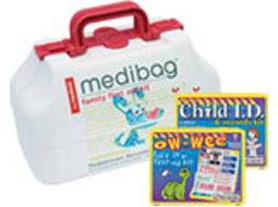 Child ID kits and First Aid kits for children...all can be custom labeled, and make great fundraising projects and gift ideas!