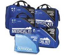 Image of expedition and backcountry first aid / medical kits and soft first aid bags.