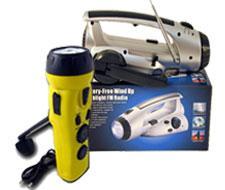 Image of multi function light, portable radio lantern.