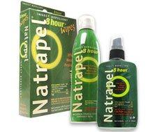 Image of Natrapel 8-hour 3.4oz Pump, Natrapel® 8-hour 6oz Continuous Spray, and Natrapel 8-hour Wipes 12/box.
