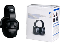 Image of pyramex safety ear muffs and packaging box.