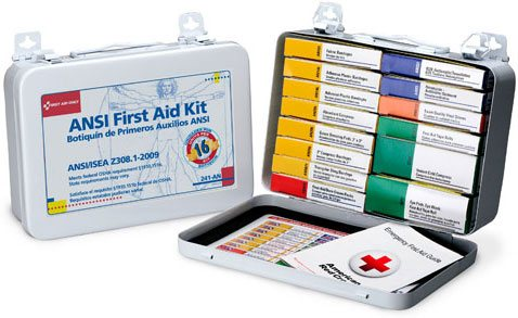 Image of 16 Unit ANSI Compliance Unitized First Aid Kit - Metal case with Gasket