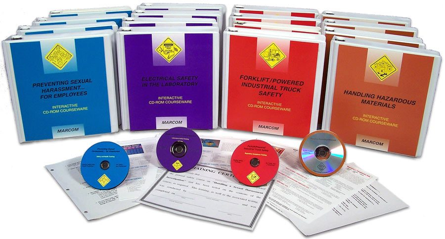 Image of a compilation of OSHA Safety Training packages.