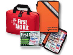 Soft Sided Outdoor First Aid Kits. Marine First Aid, Foot First Aid & U.S. Coast Guard approved Lift Boat Kit.