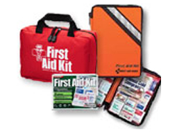 Image of 4 outdoor and camping first aid kits