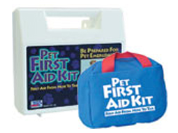Image of hard and soft pet first aid kits