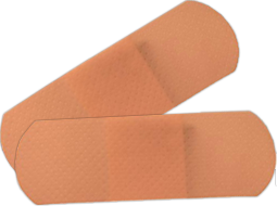 Plastic bandaids and plastic adhesive bandages in boxes of 16- 250+. Elbow and Knee, Junior Bandages, Spot and SmartTab EzRefill.