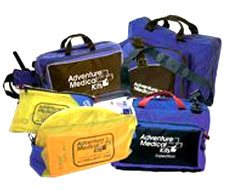 Image of professional wilderness medical professional first aid kits and guides.