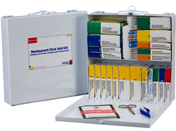 Food Service & Restaurant First Aid Cabinets. OSHA Compliance Industry Kits & Large Food Industry First Aid Cabinets.