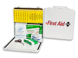 Image of school bus first aid kit