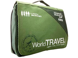 Travel First Aid Kits made in all shapes and sizes and out of durable material to protect all your First Aid necessities when traveling domestically or Internationally!