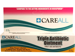 Triple Antibiotic Ointment and Triple Antibiotic SmartTab Refills available in various tubes and boxes.