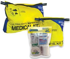 Image of ultralight & watertight first aid kits for multi-sport enthusiasts.