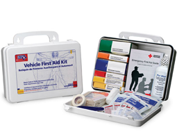 Auto Mini First Aid Kit, Auto First Aid Kits in Med-Lg -- The Mountain Road Warrior & Urban Warrior Emergency Kit.