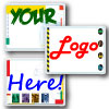 Image of You Logo Here kits displaying first aid kits with place holders for where your logo may be placed.